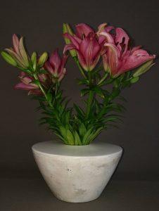 Vase weiß handgefertigt