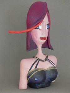Büste Dorothea aus Pappmaché