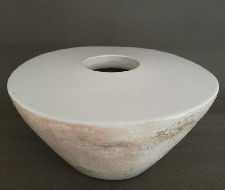 Vase aus Pappmaché selbstgemacht