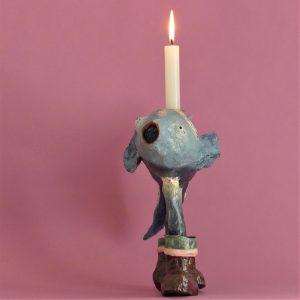 Dekofisch als Kerzenständer