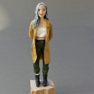 Skulptur aus Pappmaché